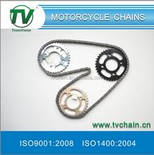 china supplier of best bajaj pulsar 180 motorcycle chain kit