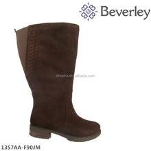 Manufacture price dark brown women winter fur boot