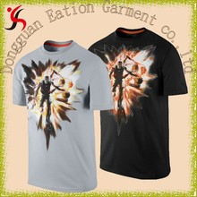 popular black digital printing basketball fancy image t-shirt