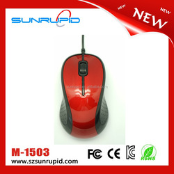 Durable 3 Buttons Optical USB Wired Computer Mouse, 3D Basic Mouse