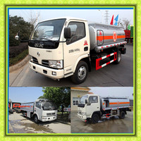 Cheap price for 4x2 LHD RHD Oil Transportation Tanker Truck with refuel pump 6000L Mobile Diesel oil Tank Truck For sale