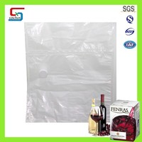 Wine plastic bag popular bag in box with spout and tap