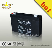 VRLA or SLA 6V 7AH battery for UPS and solar system and security system lead acid battery
