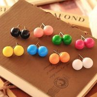RS-ZN0011 Lovely Candy ball Spherical Stud earring colorful earring wholesale Acrylic Earring
