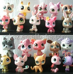 Guo hao 2015 custom littlest pet shop cats toys for kids, educational toys