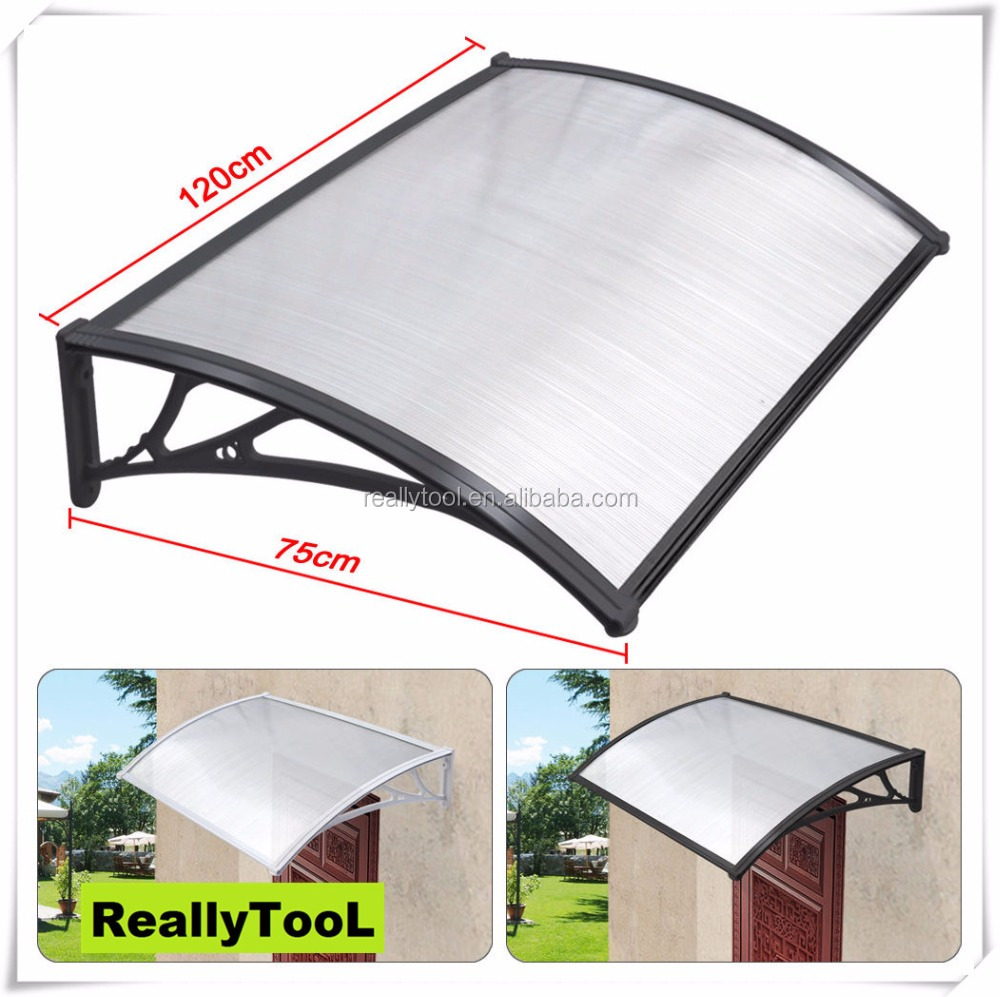 75x120cm Clear Polycarbonate Door Awning/window Awning/patio Cover/door Canopy - Buy Clear ...