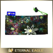 Wholesale sunglass case microfiber, neoprene blank lens pouch/ bag/cases for sublimation, promotion sunglass pouch