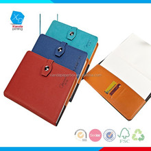 Customized Printed Blue PU executive notebooks,leather journal for office school supply products,stationery