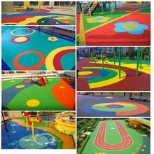 Weather And UV Resistant EPDM Flooring For Amusement Parks FN-E-15112402