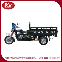 Good quality three or five wheel powerful air-cooled motor tricycle with glass windshield