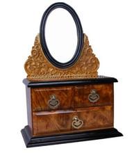 Wood engagement ring box wholesaler,makeup boxes,Handmade Jewellery Box
