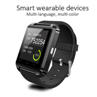 Smart Phone Watch U8 Stereo 0.96 Inch Glass Screen Bluetooth 3.0 Pedometer Sleep Monitoring Leather Wrist Band Smart Watch