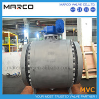 Low price customized design floating and trunnion mounted compact light weight ball valve