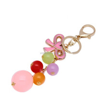 Wholesale factory design home decorative key rings colorful keyring