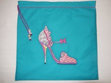 Embroidery shoes and lingerie bag
