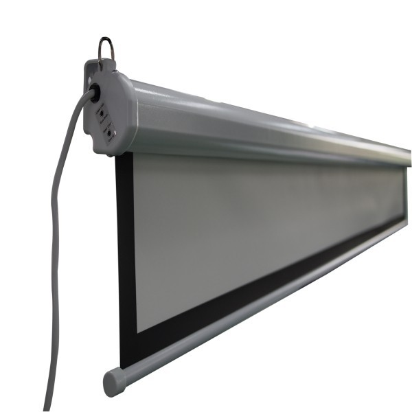 Wall Hanging Motorized Screen Recessed Ceiling Electric