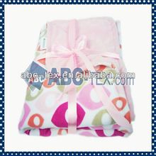 100% Polyester Fashionable 100% acrylic knitted baby blanket BB223