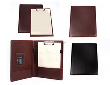 promotion gift pu notebook with pen and calculator