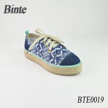 Pure natural linen casual jute espadrille shoe ramie sole shoes