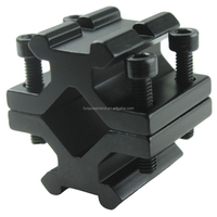 Funpowerland Tactical Quad Rail Barrel Mount w/2 Slots for accessories Laser/Flashlight