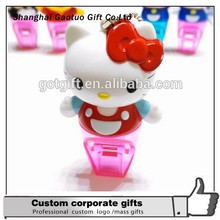 Wholesale promotional cartoon cute shape plastic whistle for children