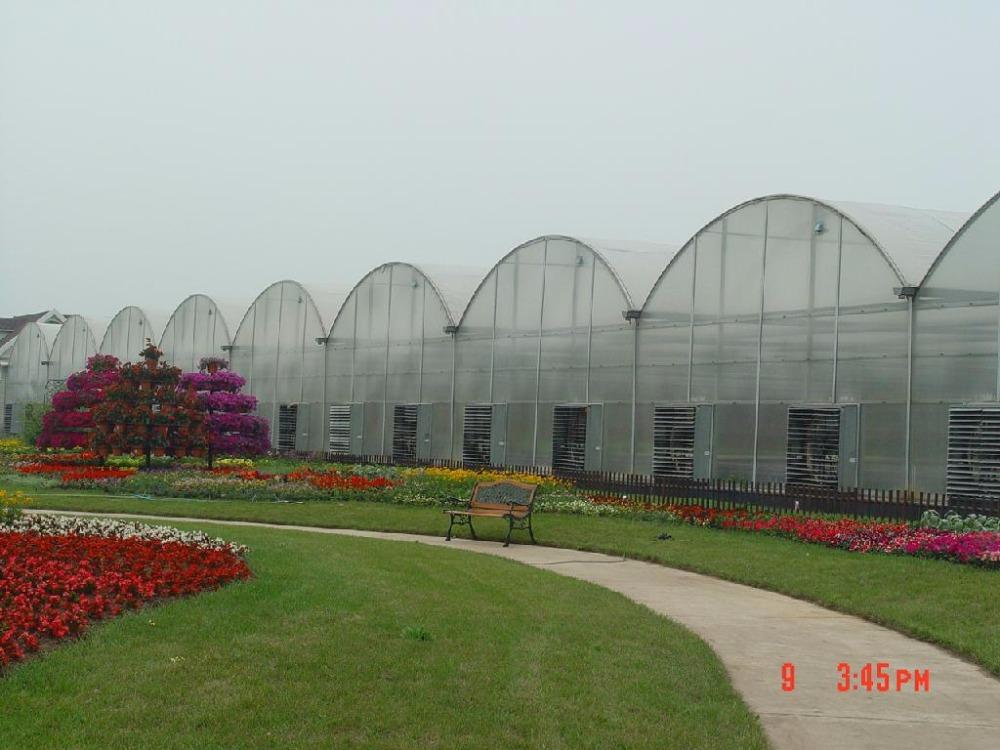 High light transmission polycrbonate greenhouse uv plastic for Serre tunnel usate