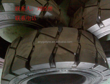 28x9-15 XZ02 Pneumatic solid tyre/ tire, forklift solid tires, solid resilient XZ02 pattern