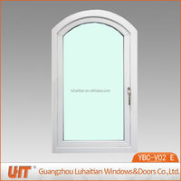High quality arch top house windows in pvc profile