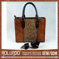 Simple Style Oem French Designer Leather Handbags