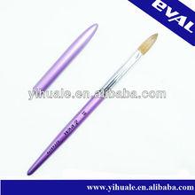 Oval kolinsky hair acrylic nail brush with cap N24