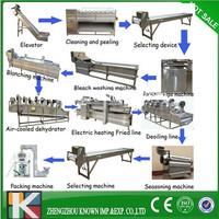 30-500kg/h complex lays potato chips production line