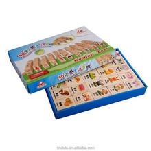 100pcs kids toy wooden educational domino blocks