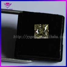 moissanite gems bulk price square yellow colors loose stone
