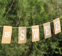 2015 Hot Fashion LOVE IS SWEET Wedding Banner /Wedding sign /Party Decorations-Free Shipping