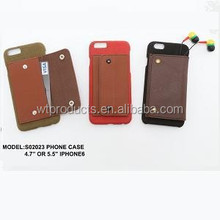 S02023 Plastic Case Finished With Suede And PU Leather Mobile Phone Case For Iphone