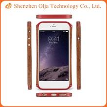Premium aluminum wood cell phone element cover case for iPhone 5s