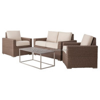 American style 4 PIECE wicker set with steel top coffee table cheap heb patio furniture
