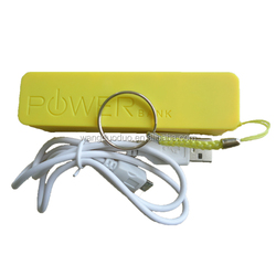 Latest design cheap and rechargeable perfume 2600mah power bank