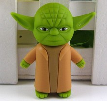 Wholesales Hot sale star wars yoda usb flash drive pendrive memory stick/disk/gift free shipping