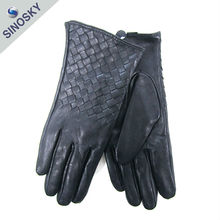 New design best quality custom ladies leather gloves size 9
