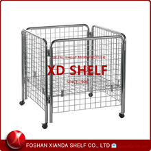 Supermarket Wire Cage With Wheels