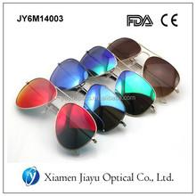 Custom Wholesale Polarized Revo Lens Metal Aviator Sunglasses