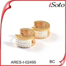 Dubai Gold Earrings joyeria mayoreo press stud jewelry pearls earrings