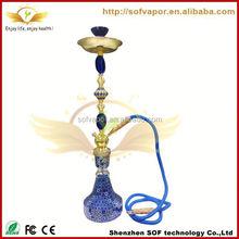 hookah e shisha pen e hookah e-SOF sapphire e SOF smoke free electronic head hookah with cage