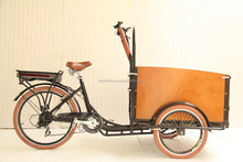 CE Danish bakfiets adult new coffee tricycle electric cargo bike for selling for kids