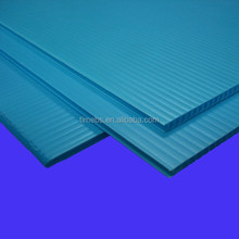 3mm pp corflute floor protection board in blue