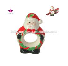 personalizado de cerámica de navidad servilleta anillo para la decoración de vacaciones