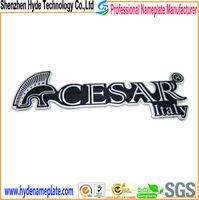 dongguan high quality design metal custom letters badge