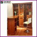 natural de alta qualidade personalizado decorativo antigo armário do vinho para a sala de estar sala de jantar