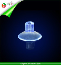 12.5mmclear vacuum suction cup top with upright hole on for hanging decoration, small objects or small toys